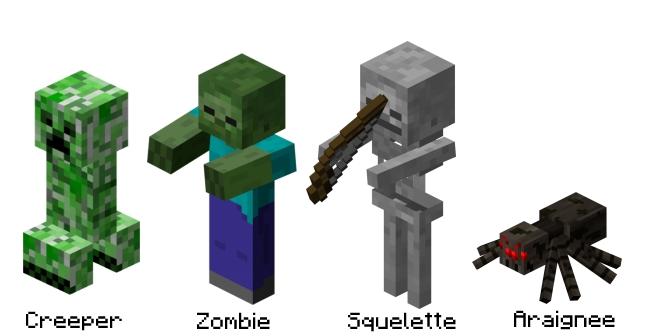"""Résultat de recherche d'images pour """"minecraft monstres"""""""