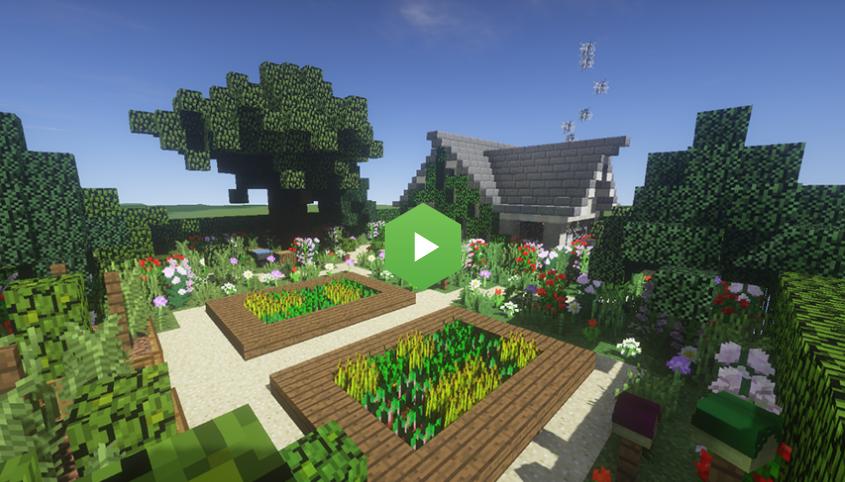 jardin minecraft Minecraft gratuit jardin