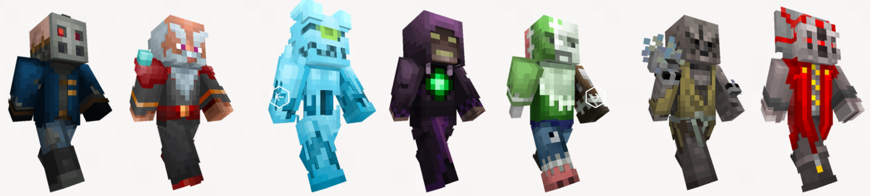 Minecraft skins villains